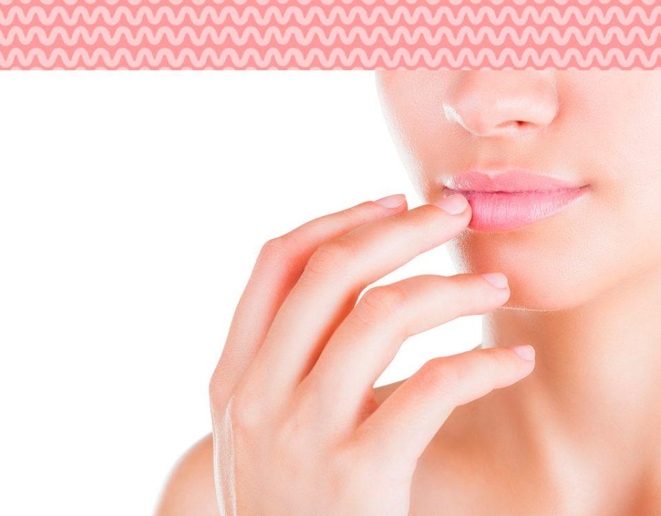 lábios macios e saudáveis