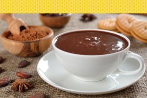 chocolate quente cremoso rápido e fácil