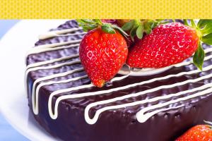 morango e chocolate