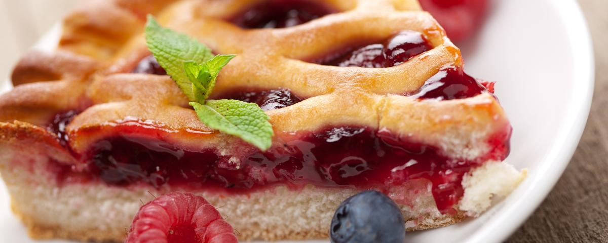 framboesa torta de frutas