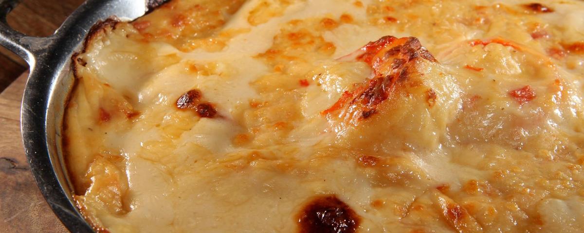 camarão gratinado